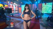 Julieta Anton in black underwear