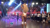 Vicky showing her bum on live TV