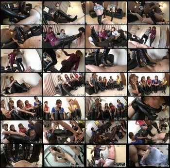 KKK-010 Knee High Boots Asian Femdom